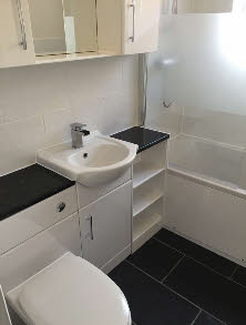 Complete new bathroom suite fitted to customers specification